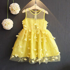 Toddler Kids Baby Girl Princess Party Clothes Lace Sleeveless Tulle Tutu Dresse