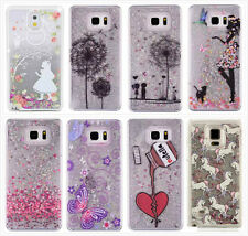 Luxury Dynamic Glitter Paillette Liquid Phone Case Cover For Samsung Galaxy S7