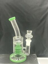 "6"" Glass Hookah Water Pipe Bong Bubbler Recycler with Bowl Color Jade"