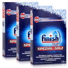 Calgonit Finish Spülmaschinen Spezial-Salz 1,2kg - Enthärtet Wasser (3er Pack)