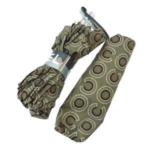 CHANEL CC Logos Folding Umbrella Gray 100% Polyester Authentic 03369