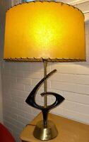 Cool Vintage 50s 60s Metal Rembrandt Lamp Fiberglass Shade Mid Century Modern