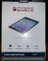 Zagg Invisible Shield HD Screen Protector For iPad Mini 1, 2, 3 NEW