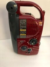 Emergency AM FM Radio W D Flash Light Heavy Duty Red-RARE VINTAGE-SHIPS N 24 HRS