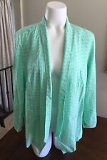 Maurices Jacket Open Front Ruched Sleeves Mint Green Womens Plus Size 1