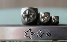 SUPPLY GUY 3mm, 5mm and 7mm Star Metal Punch Design 3 Stamp Set SGCH-31327mm