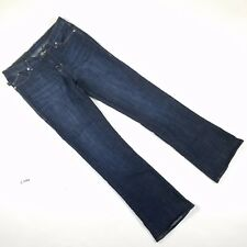 Rock & Republic Women 12 Jeans Kasandra Boot Cut Dark Wash Rhinestone Blue Denim