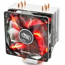 Deepcool GAMMAXX 400 Red CPU Air Cooler 120mm PWM Fan With LED 4 Heatpipes Heat
