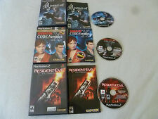 PLAYSTATION 2 GAME LOT RESIDENT EVIL CODE VERONICA X 5TH ANNIVERSARY OUTBREAK 4