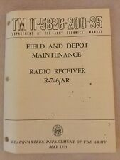 Technical Manual For Field And Depot Maintenance Radio Receiver R-746/Ar