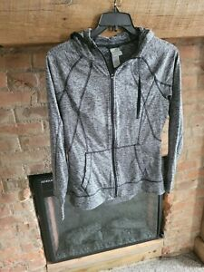 Champion Duo Dry Full Zip up Jacket w/Hoodie Grey Zipper Size M A10