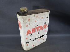 Antico bidone d'olio ANTAR olio motore decorazione garage vintage automobile