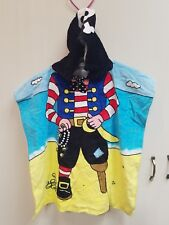 Kids hooded beach towel pirate 100% cotton