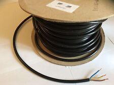 20 metros 1.5mm Negro 3 núcleos eléctrico flex/cable/conexión 13 Amp.