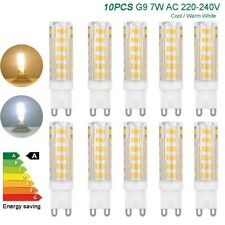 10x G9 LED bulbs 7W SMD chips lights Capsule Halogen Replace lamps AC 220V 230V