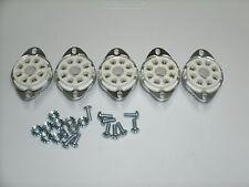 CERAMIC tube sockets OCTAL 8 pin BOTTOM MOUNT, thick version, W/ hardware set/5