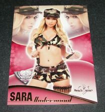 2016 Benchwarmer SARA UNDERWOOD Eclectic #SU20 BOOT CAMP Gold Foil PLAYBOY Sexy