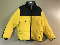 Nautica Competition Down Puffy Jacket Coat Yellow Black Ski Mens Size Large