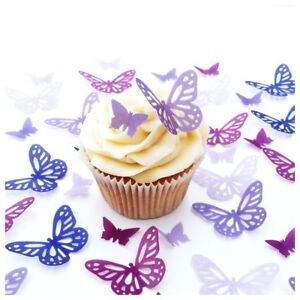 Essbar Tortendeko Schmetterlinge Muffin Tortenaufleger NEU backen lila Fototorte