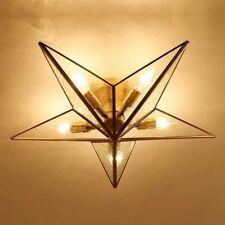 Modern LED Glass Star Lighting Ceiling Lamp Nordic Bedroom Hallway Ceiling Light