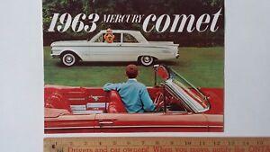 1963 MERCURY Comet - Original Sales Color Catalog Brochure