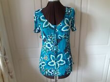 Turquoise double layer crinkle tunic from Savoir - size 12