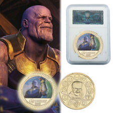 WR The Avengers Thanos Supervillain Color Gold Coin Collection Gifts In Slab