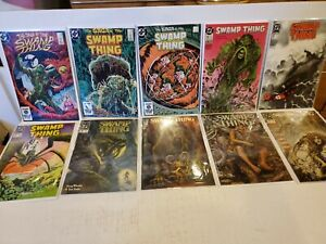 Vintage Random Lot Of 10 DC Comics Swamp Thing Issues Ranging From 1984 - 1990