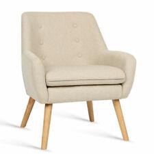 Artiss UPHOBARM04BG Fabric Dining Armchair - Beige