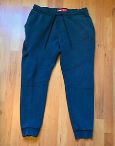 Nike Sportswear Tech Fleece 2.0 Jogger Pants Blue Green Sz L Pack Windrunner