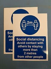 Pack of 2 Avoid contact with other people social distancing stay more than 2M