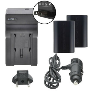 Dual Battery LP-E6 & Charger Kit for Canon 80D 6D Mark II 5D Mark IV
