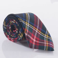 Black Stewart Luxury Pure Wool Tartan Tie
