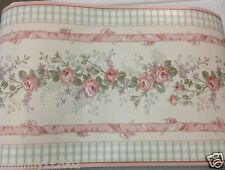 Kidsline Bellissima Bellisima Vintage Cottage pink WALL BORDER Part roll 28 FT