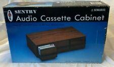 VTG Sentry Audio Cassette Storage Cabinet hold 33 Cassettes 48 tape SENAUD33 New