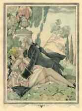 Erotismo Rendezvous nel parco-Umberto Brunelleschi a Casanova-POCHOIR