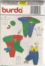 Burda Sewing Pattern 4980, Childs' Overalls 2 Styles, Sizes see listing Uncut