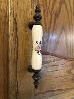 Vintage Porcelain Ceramic Decorative Handle Cabinet Dresser Drawer Pull