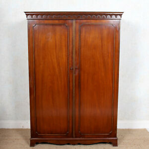 Mahogany Wardrobe Bevan Funnell Antique Vintage Double Armoire