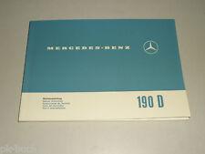 Betriebsanleitung Mercedes Benz Heckflosse 190D 190Dc W110 Stand 10/1964