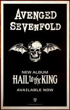 AVENGED SEVENFOLD Hail To The King Ltd Ed NEW RARE Poster! Metal The Stage A7X