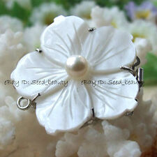 White MOP/Shell Genuine Pearl Jewelry Nice Clasp 35mm Jewelry Making Clasp