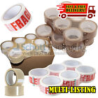 LONG LENGTH PACKING TAPE STRONG - BROWN / CLEAR / FRAGILE 48mm x 66M PARCEL TAPE <br/> MULTI LISTING - WE OFFER BIG DISCOUNTS ON BULK BUYS