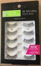 Salon Perfect Be Natural Multi Pack Eyelashes, 53 Black, 5 Pairs