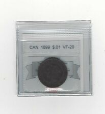 **1899**,Coin Mart Graded Canadian, Large One Cent, **VF-20**