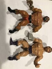 Vintage MOTU He-Man Fisto vs Jitsu Figure Lot Mattel 1983 incomplete figure only