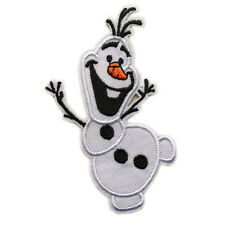 "Frozen Olaf Elsa Cartoon Snowman Patch Embroidered Iron/Sew On Applique 3.3""X1.9"