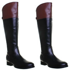 Buckle 100% Leather Knee High Boots for Women