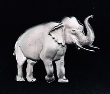 Pewter Elephant Good Luck Fortune Silver Metal Figurine Hat Lapel Pin P