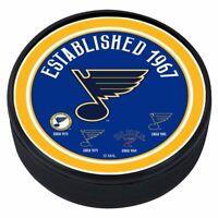 St. Louis Blues 3D Textured NHL Heritage Souvenir Hockey Puck